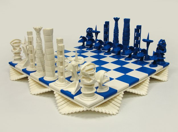 Chess Set Pawn in White Processed Versatile Plastic
