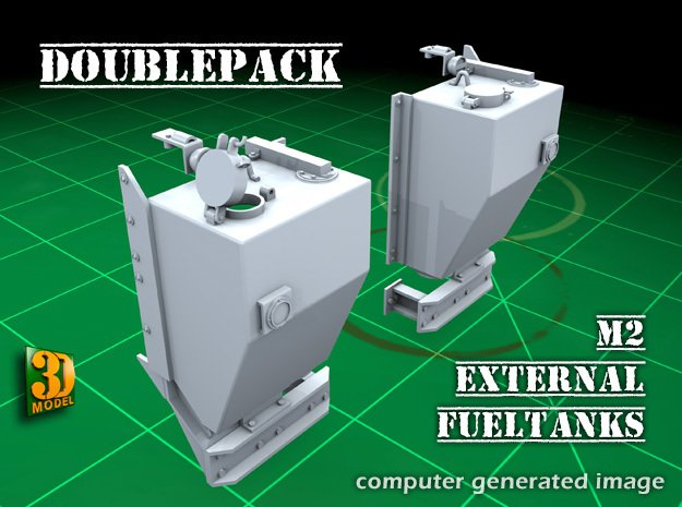 IDF M2 External Fueltanks (1:35) (2x) in Smooth Fine Detail Plastic