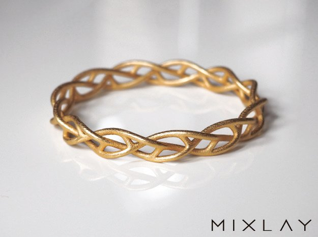 Braidlet Slim in Polished Gold Steel