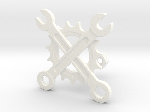 Wrenches & gear in White Processed Versatile Plastic