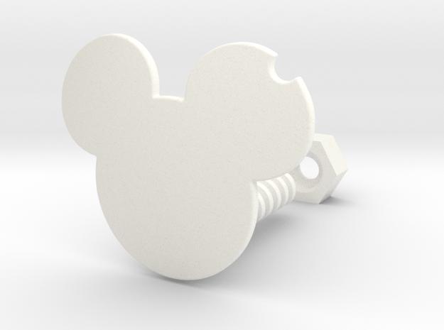 Bitten MM in White Processed Versatile Plastic