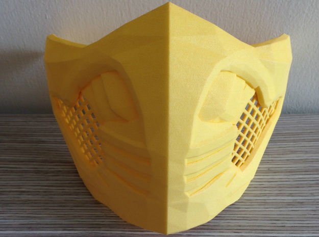 Scorpion Mask MKX (wearable) in Yellow Processed Versatile Plastic