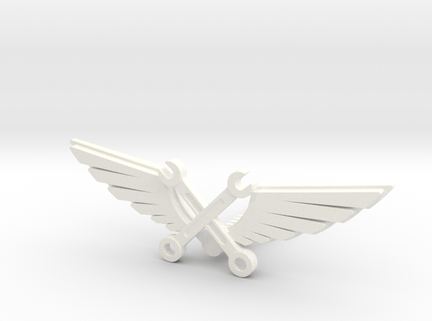 Wrenches & wings in White Processed Versatile Plastic