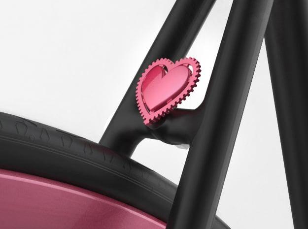 Fixie Heart in Pink Processed Versatile Plastic