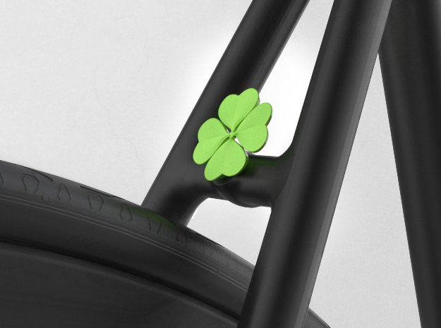 Lucky Clover in Green Processed Versatile Plastic