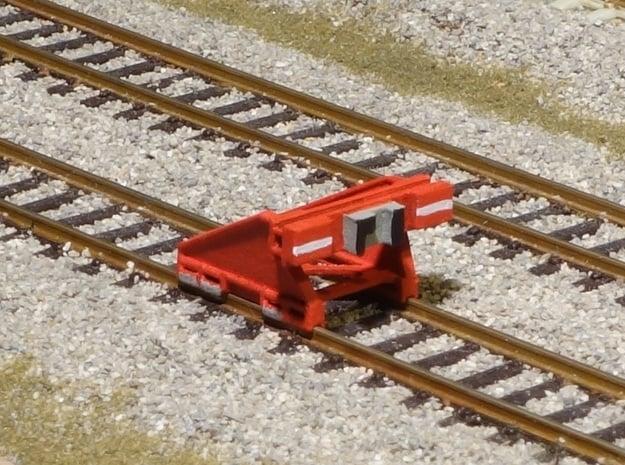 Modern N gauge 148th scale Buffers in Smooth Fine Detail Plastic