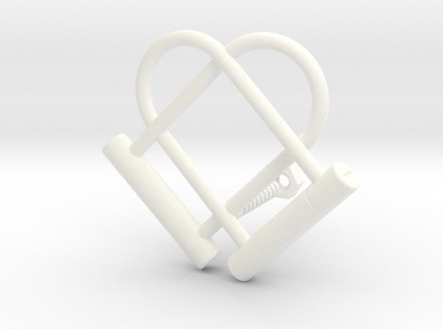 Kriptoheart in White Processed Versatile Plastic
