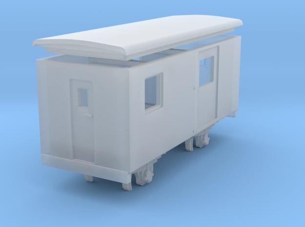 Goods van / carro chiuso H0e - freelance  in Smooth Fine Detail Plastic