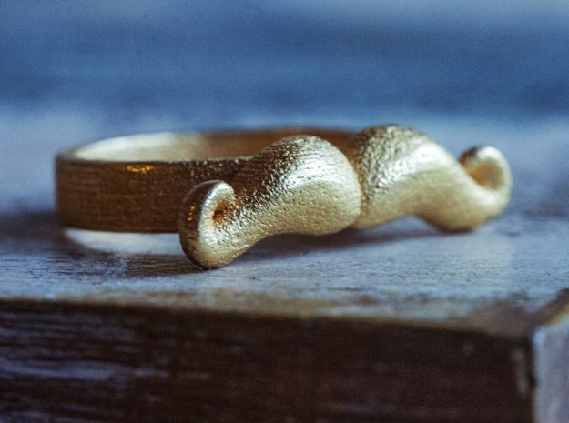 Mustache Type:2 in Polished Gold Steel