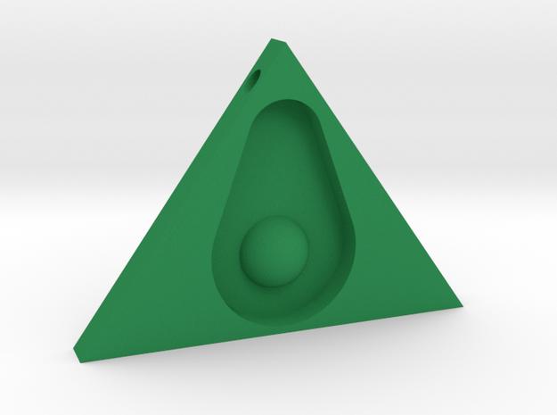 Guacanati Pendant in Green Processed Versatile Plastic
