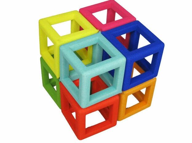 Knot Cube in White Processed Versatile Plastic