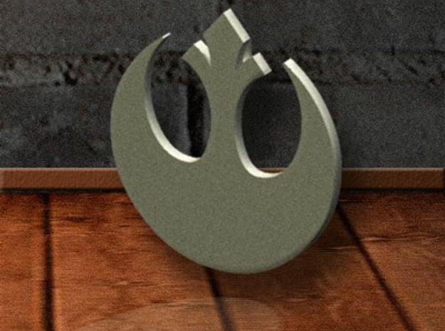 Rebel-Alliance Pendant in Polished Bronzed Silver Steel