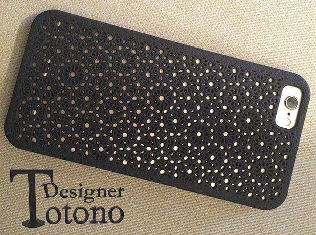 iPhone 6s Case Flower Pattern in Black Natural Versatile Plastic