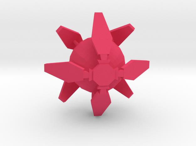 Ingress Portal Shield Pendant (1 inch)  in Pink Processed Versatile Plastic