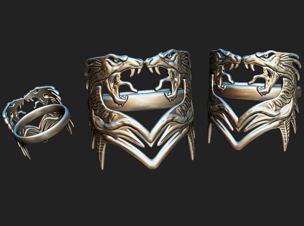 DragonRing2 in Natural Brass