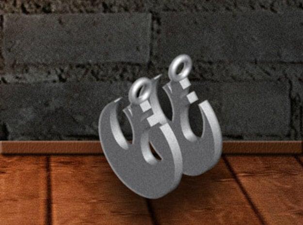Rebel-Alliance Earring in Polished Bronzed Silver Steel