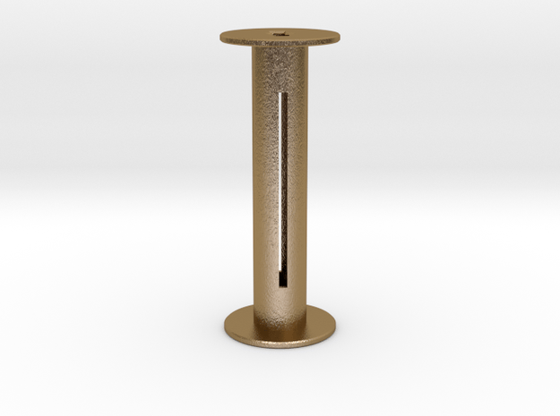 120 Film Spool in Polished Gold Steel