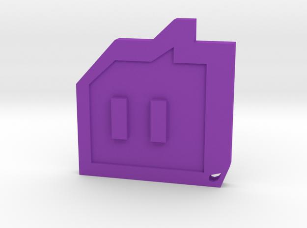 Twitch - Logo Necklace in Purple Processed Versatile Plastic