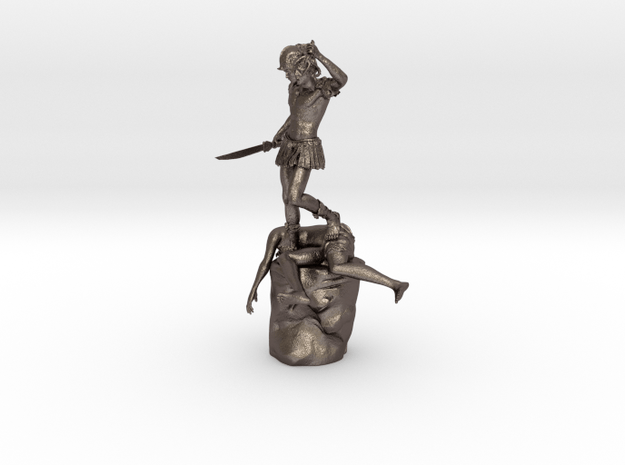 Perseus With The Head Of Medusa At The V&A, London in Polished Bronzed Silver Steel