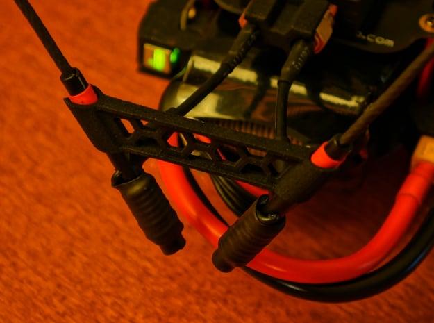 TBS Crossfire 8CH Rx Stock Antenna Bracket 60° in Black Natural Versatile Plastic