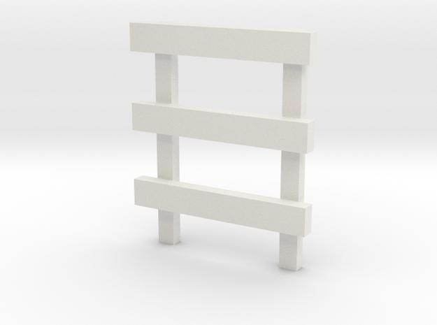 4' No Feet (1) in White Natural Versatile Plastic