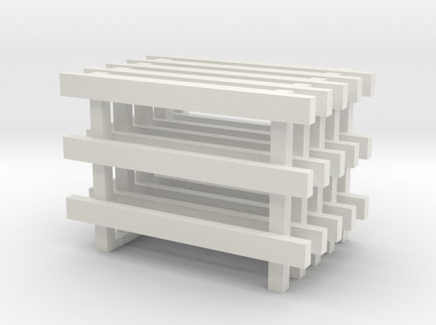 8' No Feet (5) in White Natural Versatile Plastic