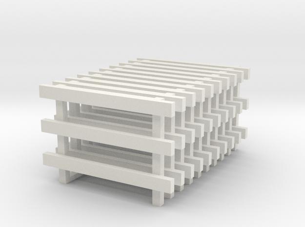 8' No Feet (10) in White Natural Versatile Plastic