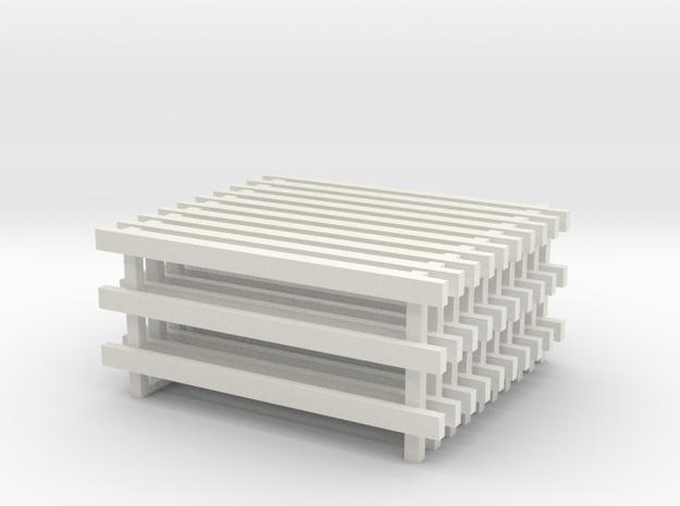 12' No Feet (10) in White Natural Versatile Plastic