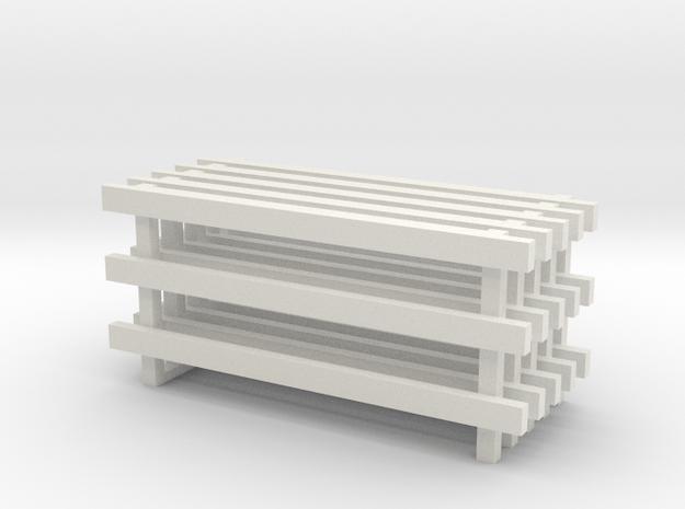 12' No Feet (5) in White Natural Versatile Plastic