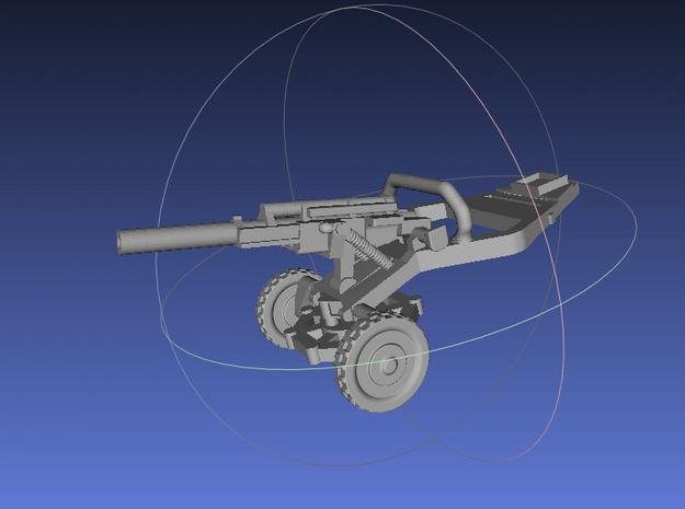1/144   M102 Howitzer in White Processed Versatile Plastic