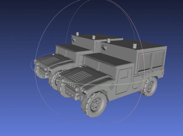 1/144 Humvee M1097A2 Shop Equipment Maintenance (D in White Processed Versatile Plastic