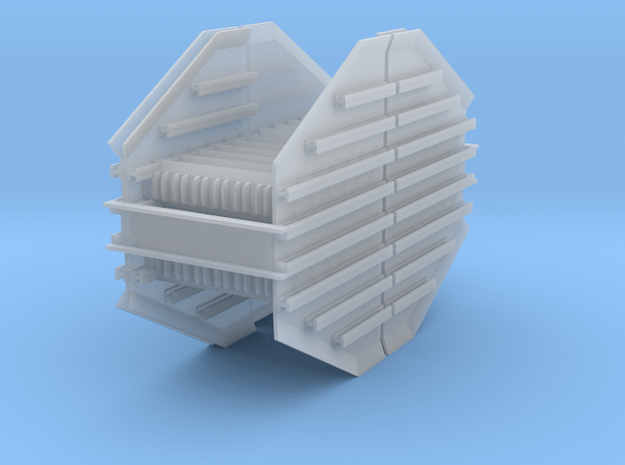 Mid Racks 2-pack for Rail Train HO in Smooth Fine Detail Plastic