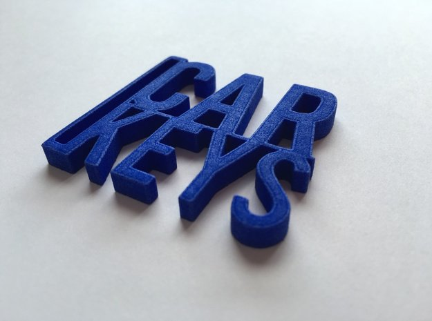 Car Keys Keychain in Blue Processed Versatile Plastic