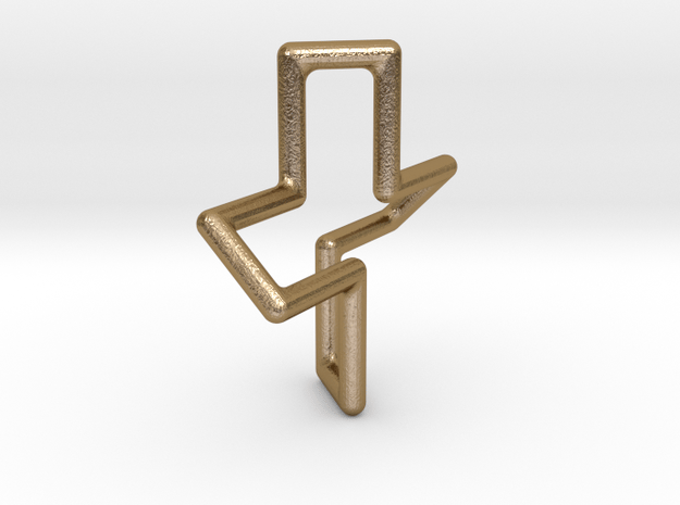 PlusD4-POV in Polished Gold Steel