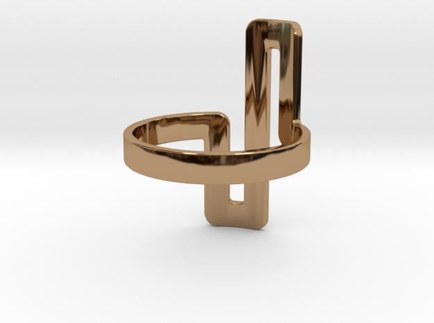 'UNTANGLED' - Ø17 in Polished Brass