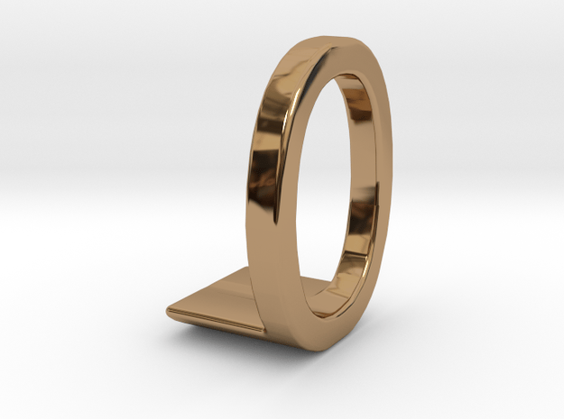 Two way letter pendant - LO OL in Polished Brass