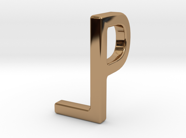 Two way letter pendant - LP PL in Polished Brass