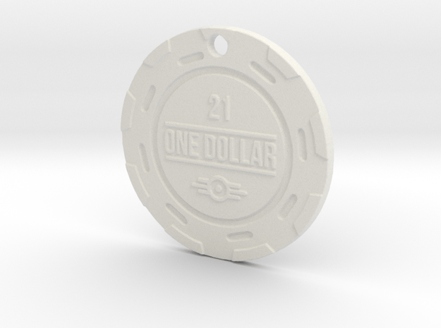 Vault 21 Chip Pendant in White Natural Versatile Plastic