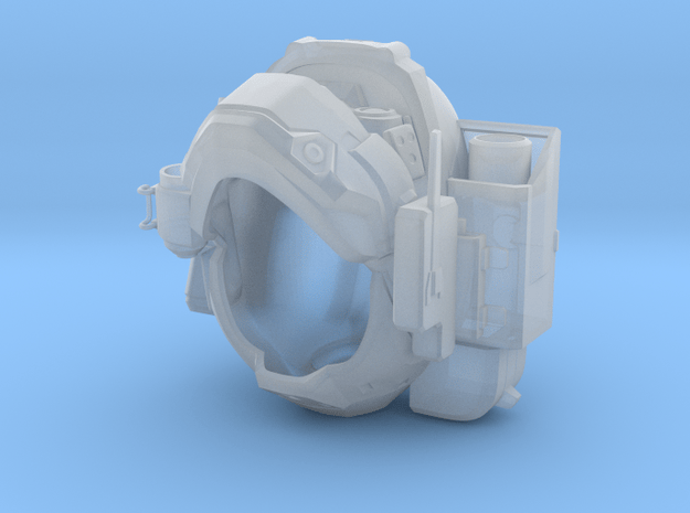 Halo 5 Argus/linda 1/6 scale helmet in Smooth Fine Detail Plastic