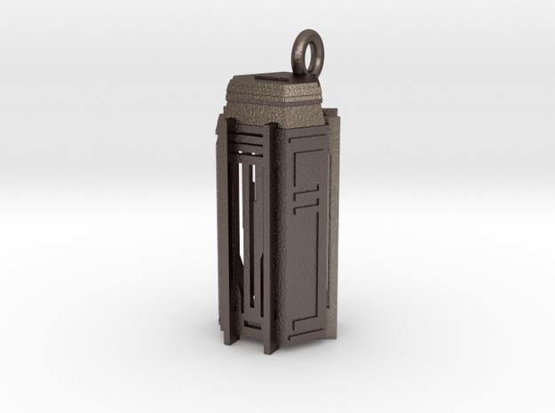 Key Locker Pendant (1.75 inch) in Polished Bronzed Silver Steel