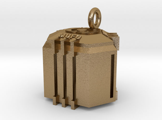 Ingresss Capsule - MUFG pendant in Polished Gold Steel