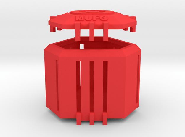 Ingress Capsule - MUFG (2.25 inches) in Red Processed Versatile Plastic