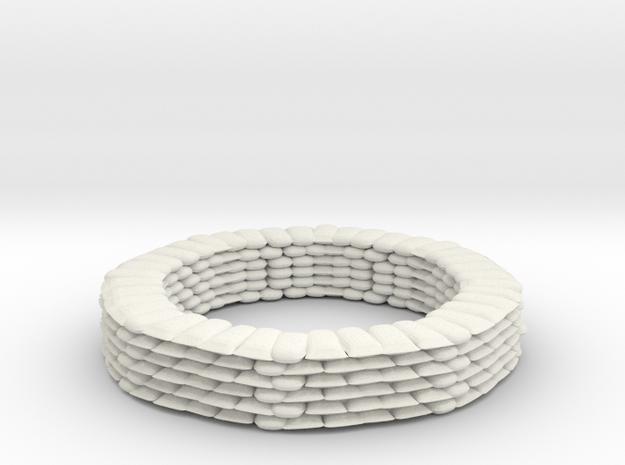 Sandbag Ring for 6mm, 1/300 or 1/285 in White Natural Versatile Plastic