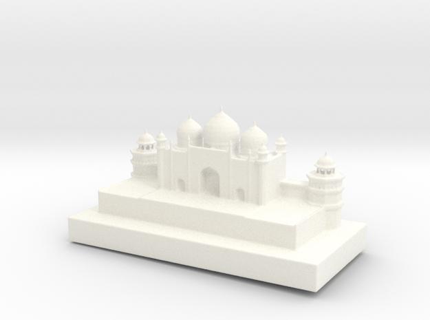 Taj Mahal Full Color 3D Printer by Space 3D in White Processed Versatile Plastic