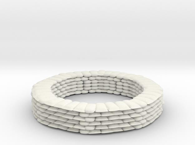 Sandbag Ring for 9mm, 1/200 in White Natural Versatile Plastic