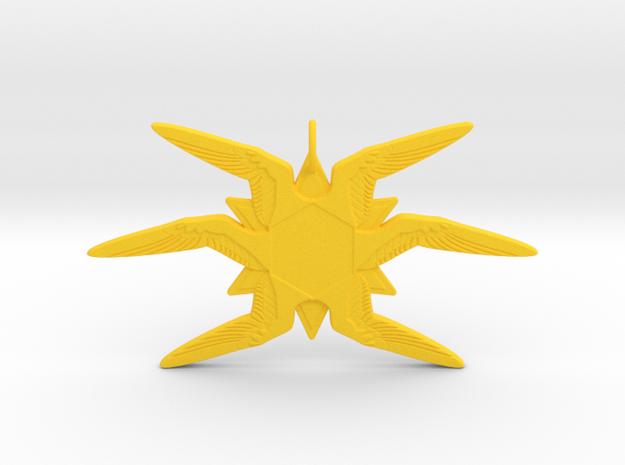 Six-Winged Seraphim Ornament in Yellow Processed Versatile Plastic