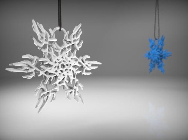 Snowflake Ornament in White Processed Versatile Plastic