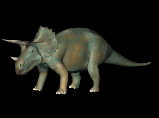Replica Toys Jurassic World Triceratops  in Blue Processed Versatile Plastic