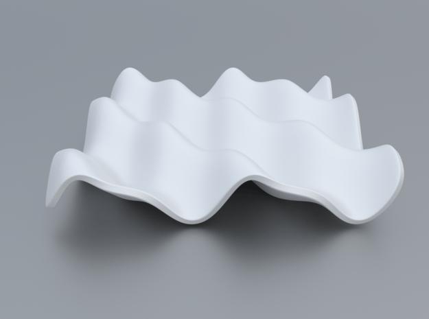 Mathematical Function 6 in White Processed Versatile Plastic