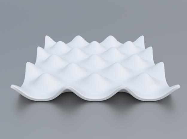 Mathematical Function 7 in White Processed Versatile Plastic
